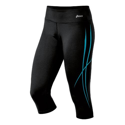 Womens ASICS Pure Capri Tights - Bondi Blue L