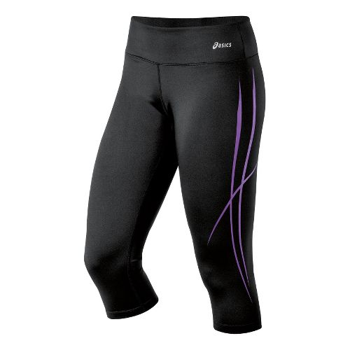 Womens ASICS Pure Capri Tights - Electric Purple XL