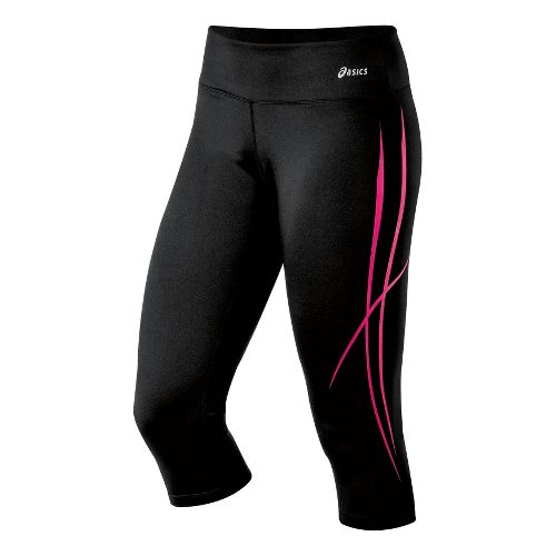 Womens ASICS Pure Capri Tights - Magenta XL