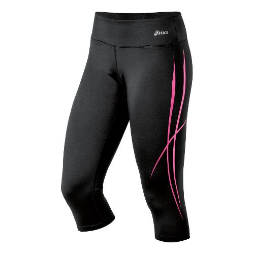 Womens ASICS Pure Capri Tights - PinkGlo L