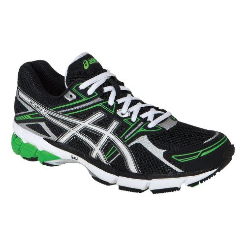 Mens ASICS GT-1000 Running Shoe - Black/White 12.5