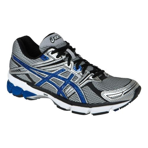 Mens ASICS GT-1000 Running Shoe - Grey/Blue 11