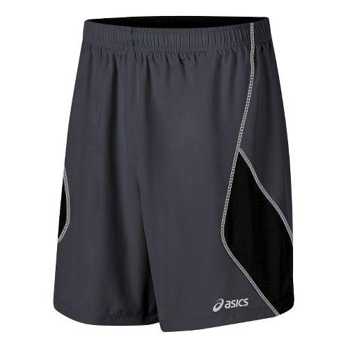 Mens ASICS Lite-Show 7 Lined Shorts - Steel/Black M