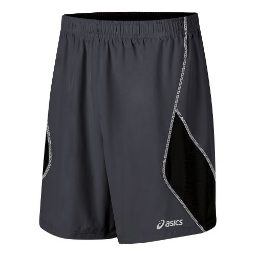 Mens ASICS Lite-Show 7 Lined Shorts - Steel/Black S