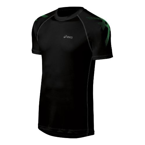 Mens ASICS Tiger Short Sleeve Technical Tops - Performance Black XL