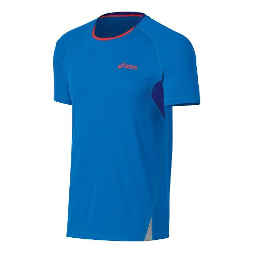 Mens ASICS Fuji Light Short Sleeve Technical Tops - Atomic Blue/Speed Blue XL