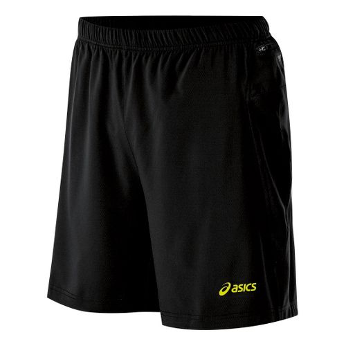 Mens ASICS Fuji 2-N-1 Lined Shorts - Performance Black/Electric Lime XL