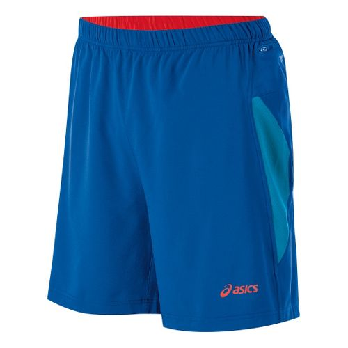 Mens ASICS Fuji 2-N-1 Lined Shorts - Speed Blue/Fiery Red XL