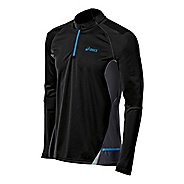 Mens ASICS Fuji Long Sleeve 1/2 Zip Technical Tops