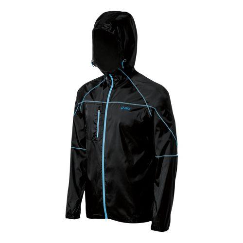 Mens ASICS Fuji Packable Running Jackets - Performance Black S