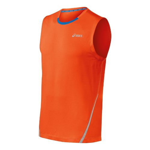 Mens ASICS PR Lyte Sleeveless Technical Tops - Radiant/Electric S