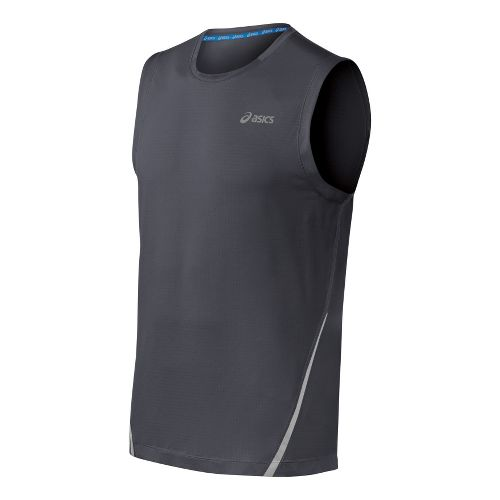 Mens ASICS PR Lyte Sleeveless Technical Tops - Steel XXL