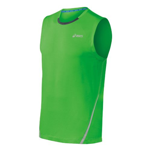 Mens ASICS PR Lyte Sleeveless Technical Tops - Track/Steel XL
