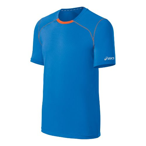 Mens ASICS PR Lyte Short Sleeve Technical Tops - Electric/Radiant S