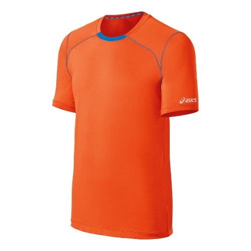 Mens ASICS PR Lyte Short Sleeve Technical Tops - Radiant/Electric XXL