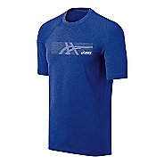 Mens ASICS Streaked Tee Short Sleeve Technical Tops