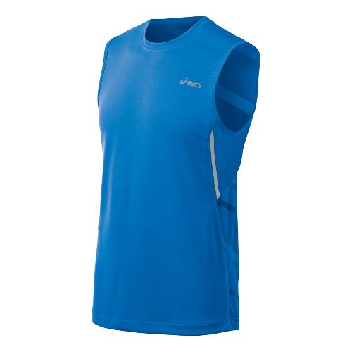 Mens ASICS Gradient Sleeveless Technical Tops - Electric S