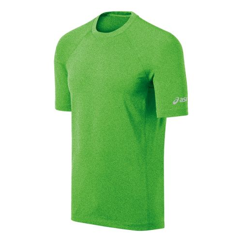 Mens ASICS Everyday III Short Sleeve Technical Tops - Green Gecko XL