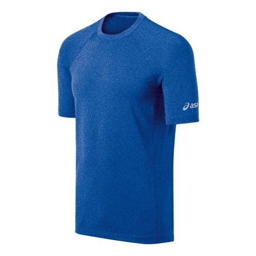 Mens ASICS Everyday III Short Sleeve Technical Tops - New Blue/Heather M