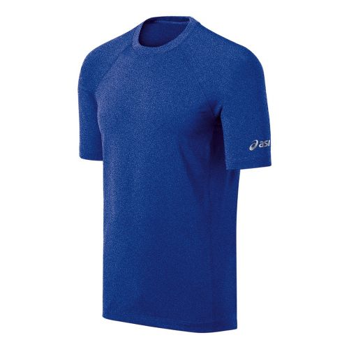 Mens ASICS Everyday III Short Sleeve Technical Tops - Surf Heather M