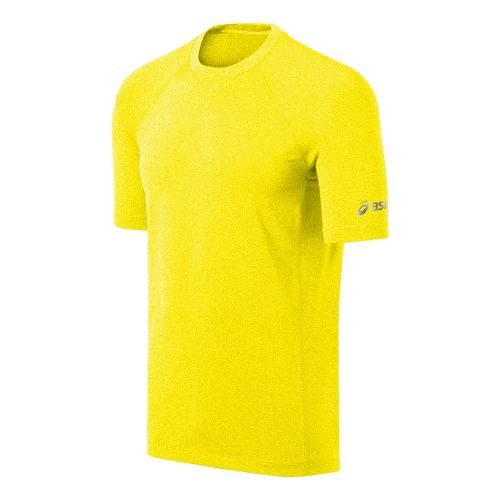 Mens ASICS Everyday III Short Sleeve Technical Tops - Vivid Heather XXL