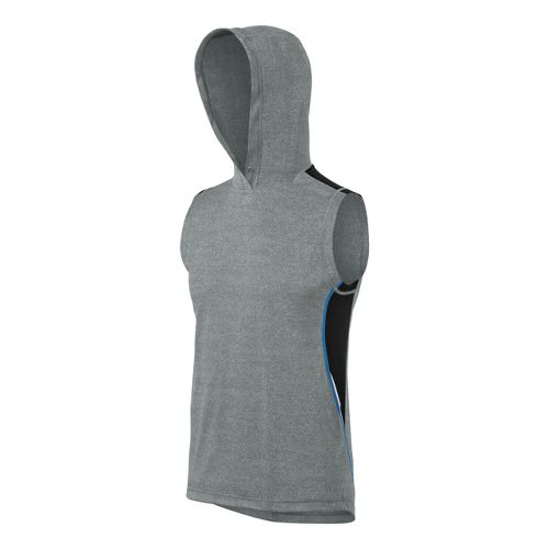 Mens ASICS Pumped Muscle Sleeveless Technical Tops - Grey Heather/Jet Black S