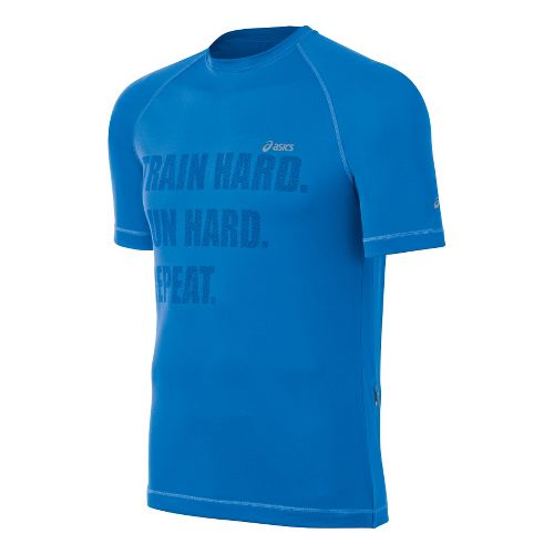 Mens ASICS Charged Tee Short Sleeve Technical Tops - Electric S