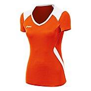 Womens ASICS Set Jersey Short Sleeve Technical Tops