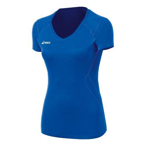 Womens ASICS Set Jersey Short Sleeve Technical Tops - Royal M