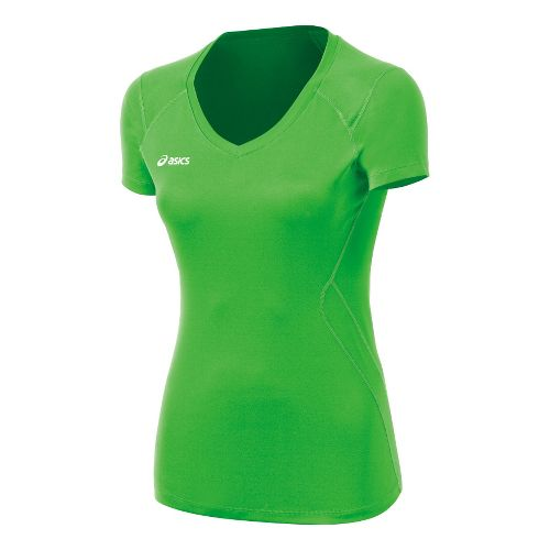 Womens ASICS Set Jersey Short Sleeve Technical Tops - Track L