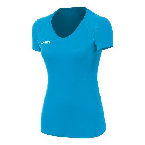 Womens ASICS Set Jersey Short Sleeve Technical Tops - Steel Grey L