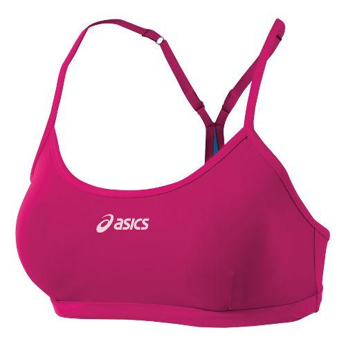 Womens ASICS Kaitlyn Bikini Top Swimming UniSuits - Magenta/Surf XS