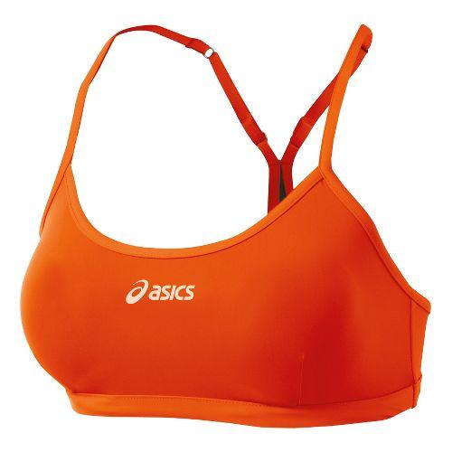 Womens ASICS Kaitlyn Bikini Top Swimming UniSuits - Orange/Olive L