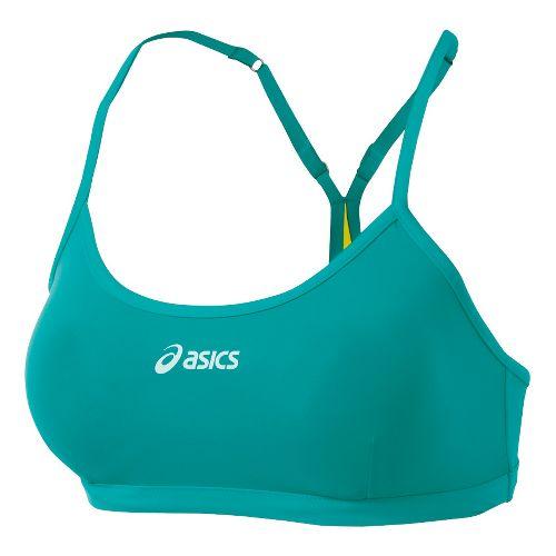 Womens ASICS Kaitlyn Bikini Top Swimming UniSuits - Teal/Lemon XL