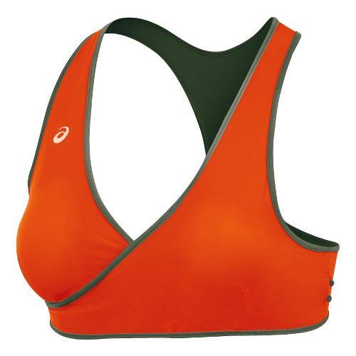 Womens ASICS Keli Bikini Top Swimming UniSuits - Olive/Orange S