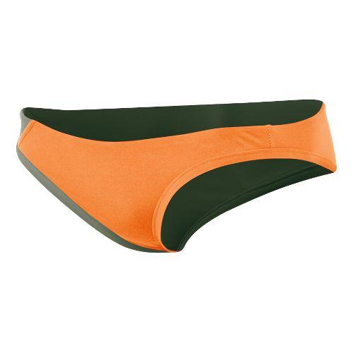 Womens ASICS Kanani Bikini Bottom Swimming UniSuits - Orange/Olive L