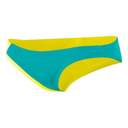Womens ASICS Kanani Bikini Bottom Swimming UniSuits - Teal/Lemon XS