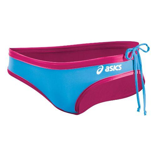 Womens ASICS Kaitlyn Bikini Bottom Swimming UniSuits - Magenta/Surf XS
