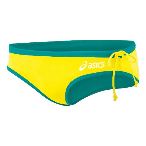 Womens ASICS Kaitlyn Bikini Bottom Swimming UniSuits - Teal/Lemon XS
