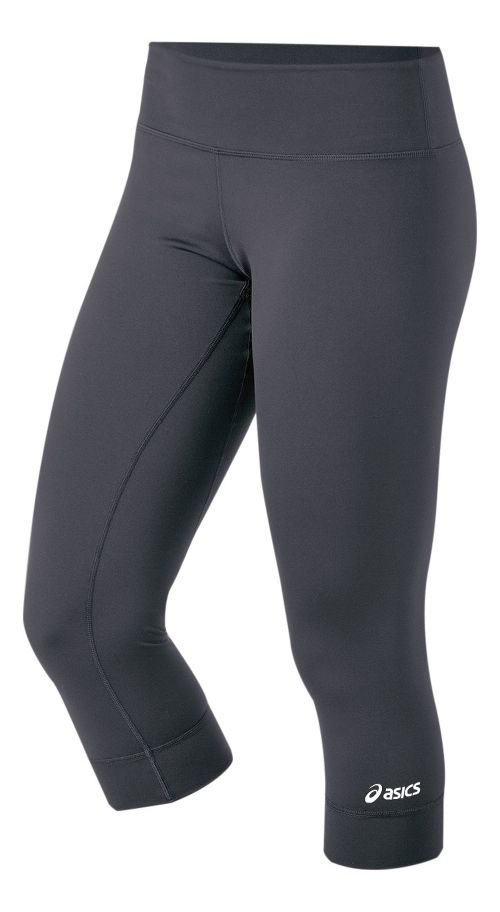 Womens ASICS Team 3/4 Capri Tights - Steel XS