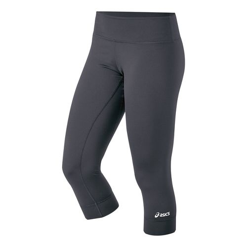 Womens ASICS Team 3/4 Capri Tights - Steel L