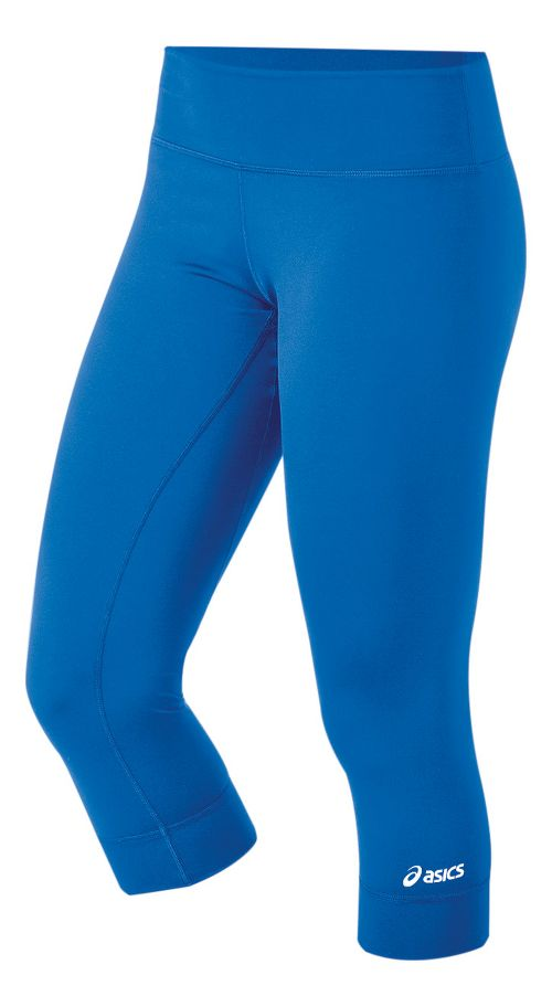 Womens ASICS Team 3/4 Capri Tights - Royal L