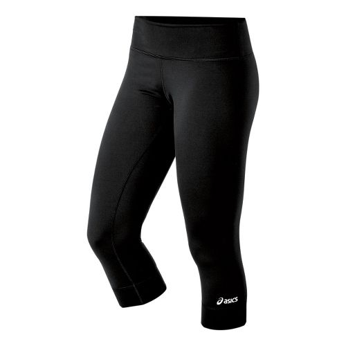 Womens ASICS Team 3/4 Capri Tights - Black XL