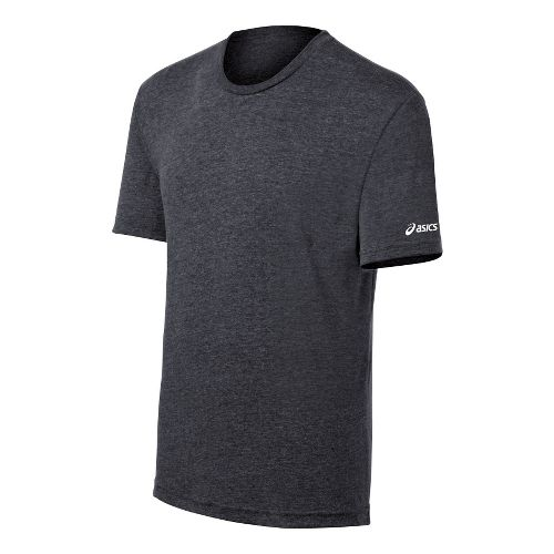 ASICS Team Tech T Short Sleeve Technical Tops - Charcoal Heather XL