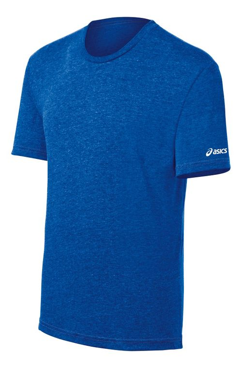 ASICS Team Tech T Short Sleeve Technical Tops - Royal Heather M