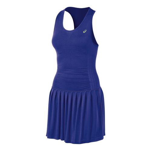 Womens ASICS Racket Dress Fitness Skirts - Blueberry S