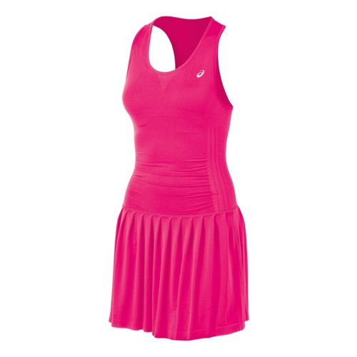 Womens ASICS Racket Dress Fitness Skirts - Sport Pink L