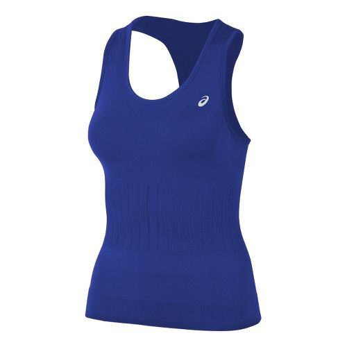 Womens ASICS Seamless Tanks Technical Tops - Blueberry L