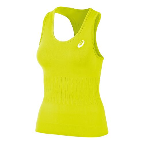 Womens ASICS Seamless Tanks Technical Tops - Electric Lime XL