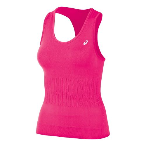 Womens ASICS Seamless Tanks Technical Tops - Sport Pink XL